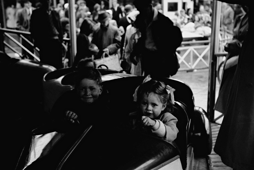 Bill and cousin Katie at the fair on the Town Moor